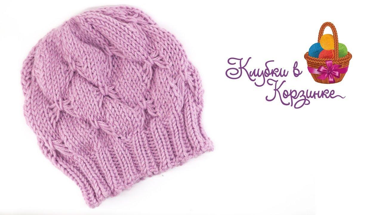 детская шапка спицами шапочка для девочки как связать шапку спицами вязание Kvk