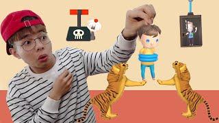 ThắnG Tê Tê Giải Cứu Em Trai Thoát Khỏi Con Hổ Hung Dữ | Rescue Cut - Rope Puzzle