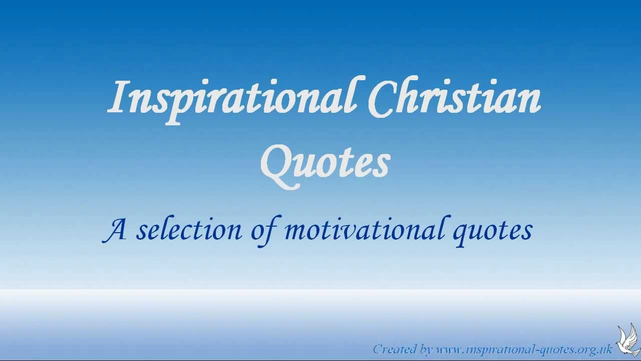 Inspirational Christian Quotes - YouTube