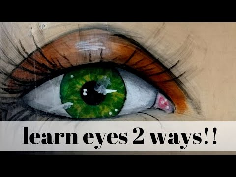 Paint KILLER Mixed Media EYES 👁️👁️ [10 Easy Steps]