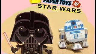 Paper Toy Star Wars Darth Vader - Como montar
