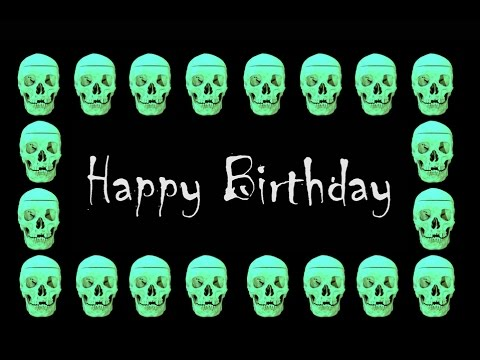 Happy birthday wishes - Psychedelic Skull [Horror] - (Free musical Ecard)