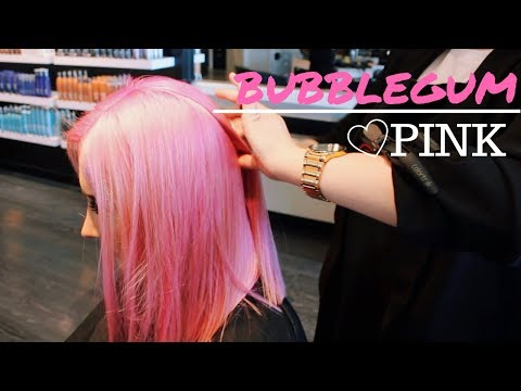 BUBBLEGUM PINK HAIR TRANSFORMATION VLOG | Trios Salon ♡