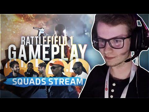 Battlefield 1 - 40min de gameplay - BFSquads stream