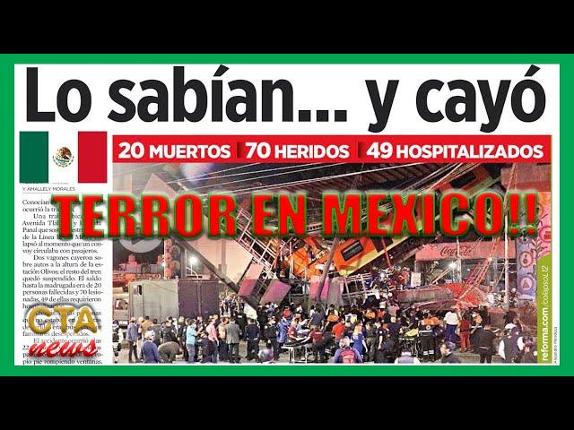 MEXICO Tragedia en Metro 🚒 Investigan qué provocó el accidente