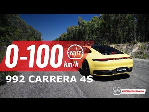 2020 Porsche 911 Carrera 4S 0-100km/h & engine sound