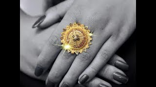 Latest Womens Finger Rings Designs In  Pure Gold
