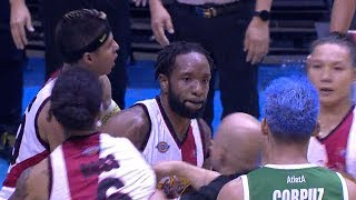 Jackson Corpuz's hard foul did not go well with Dez Wells | PBA Governors' Cup 2019
