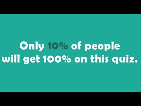 English grammar quiz - Can YOU score 100%?