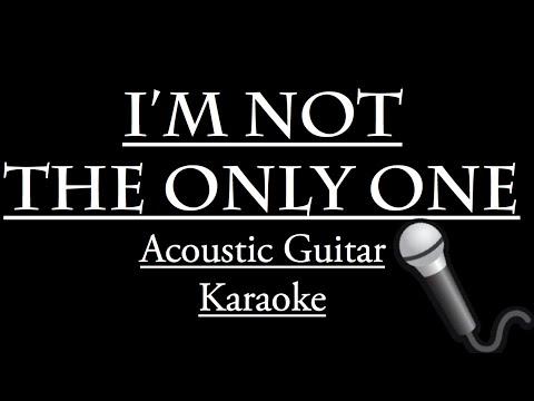 """I'm Not the Only One"" - Sam Smith KARAOKE LYRICS (Guitar Instrumental) - Backing Track"