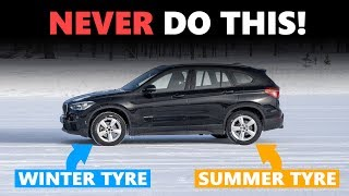 This is why you should NEVER fit just two winter tyres! thumbnail