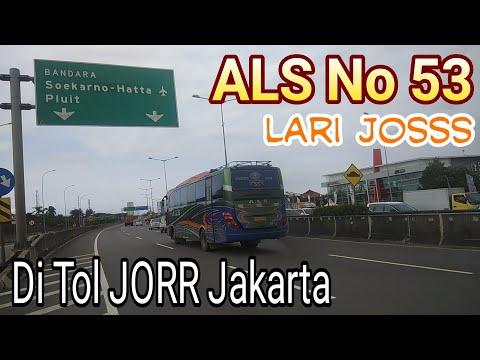 ALS No 53 Lari jos di Tol JORR Jakarta