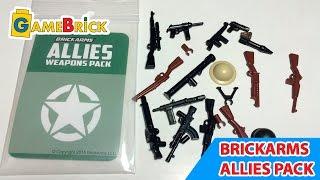 ЛЕГО ОРУЖИЕ Обзор Брикармс оружие союзников Brickarms allies weapons pack