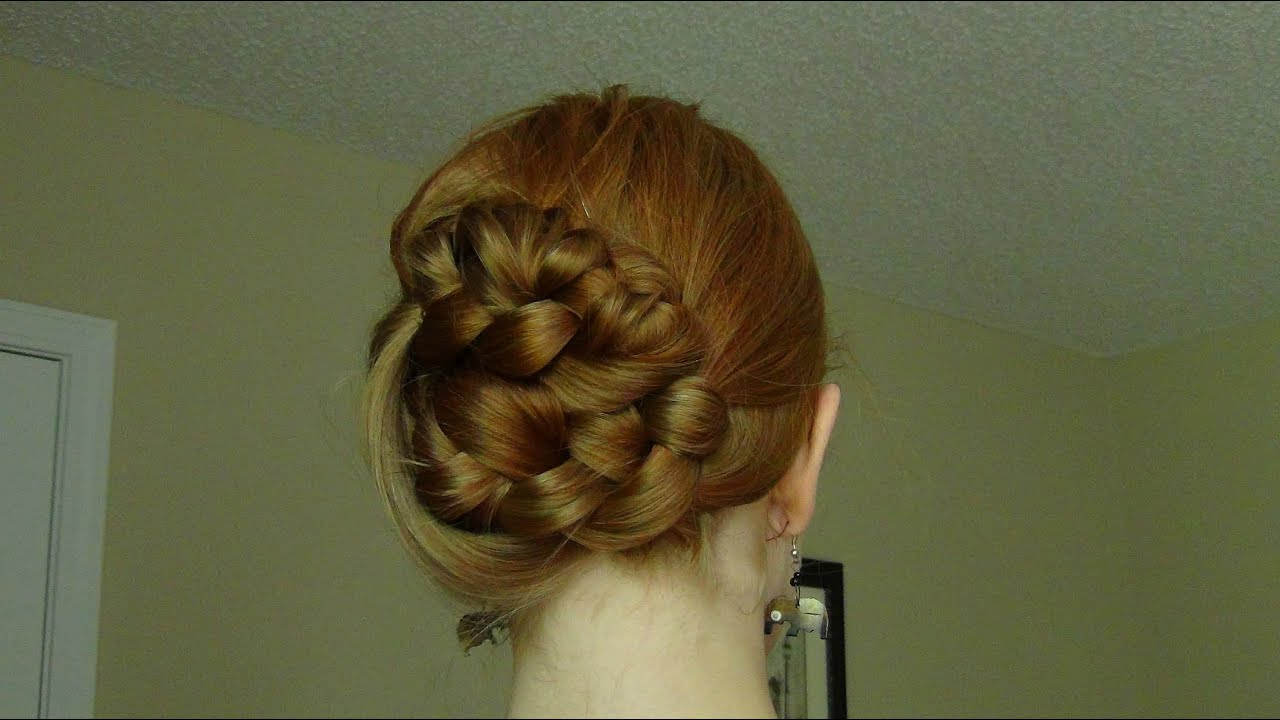 Quick Amp Easy Braided Updo For Medium Length Hair Youtube