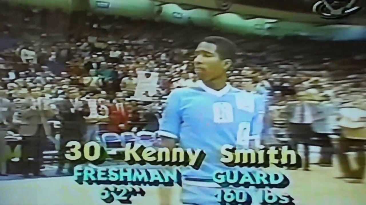 1984 NCAA ACC North Carolina vs Duke starters intro Michael Jordan