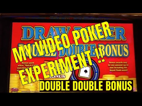 My Double Double Bonus Video Poker Experiment. Trying To Lose!