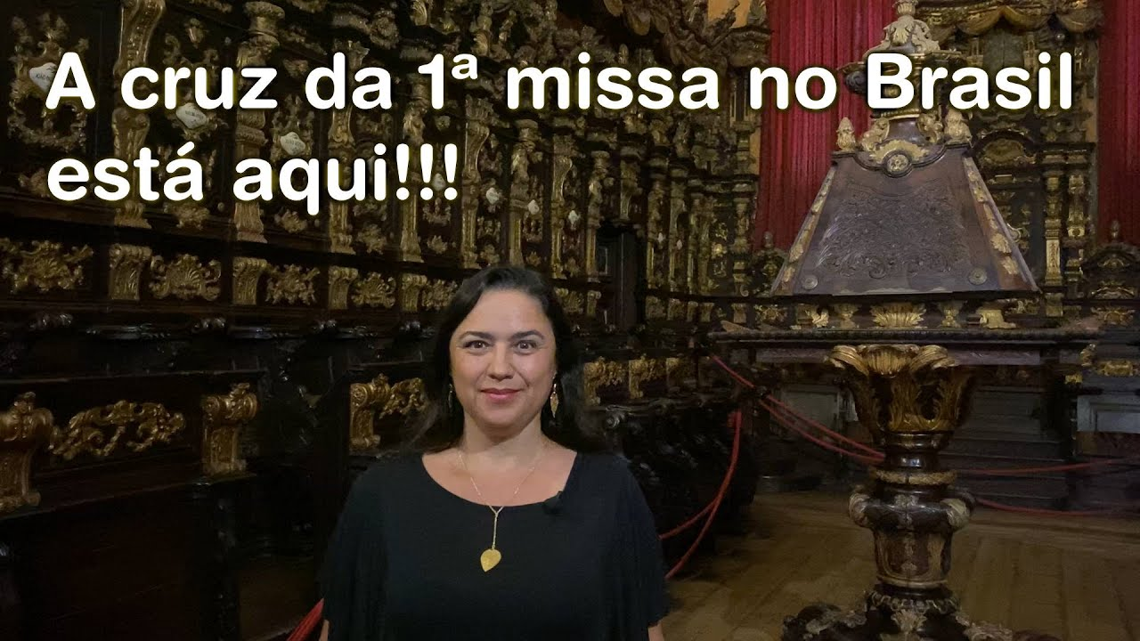 A CRUZ DA 1ª MISSA NO BRASIL ESTÁ EM BRAGA, PORTUGAL