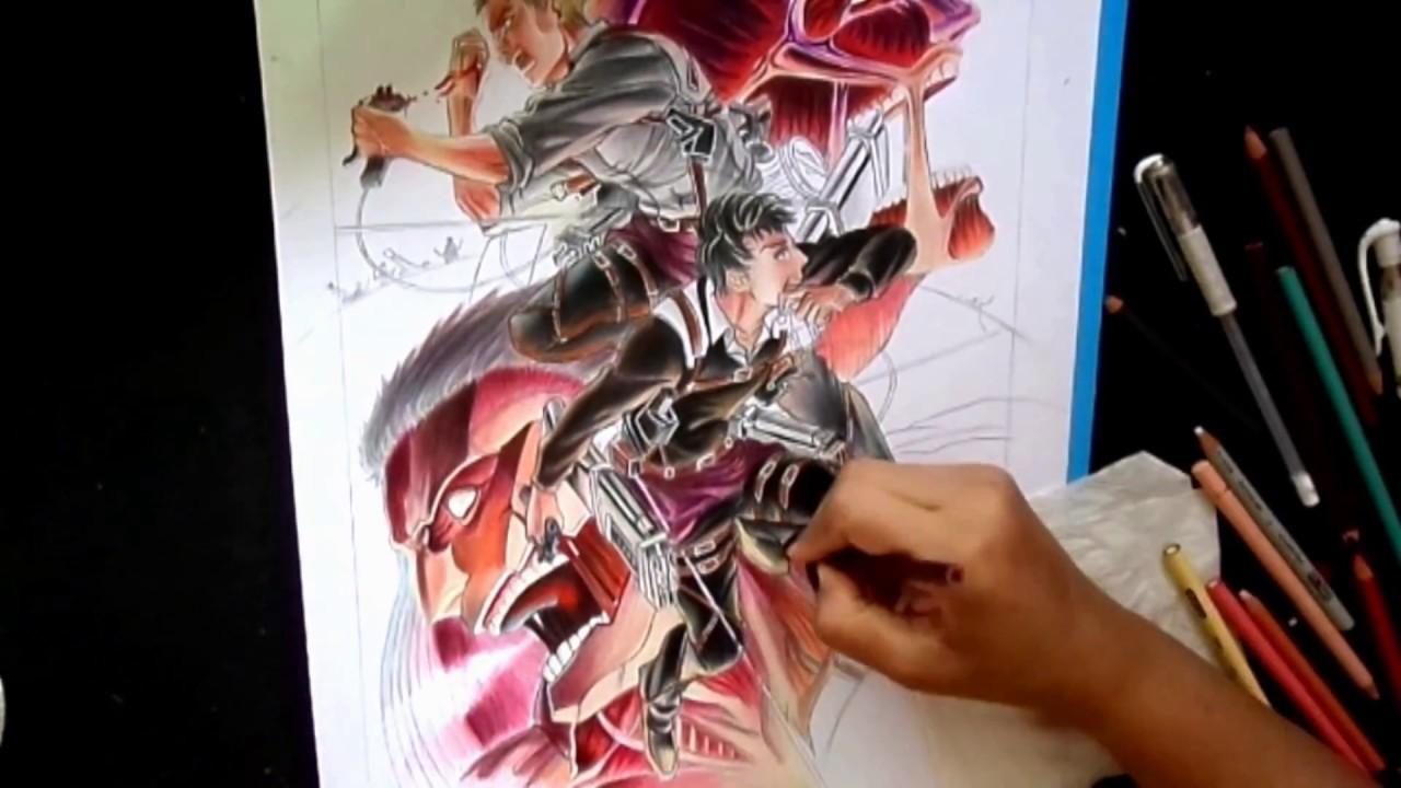Speed drawing   Reiner & Bertolt Titan form   Attack on Titan ...