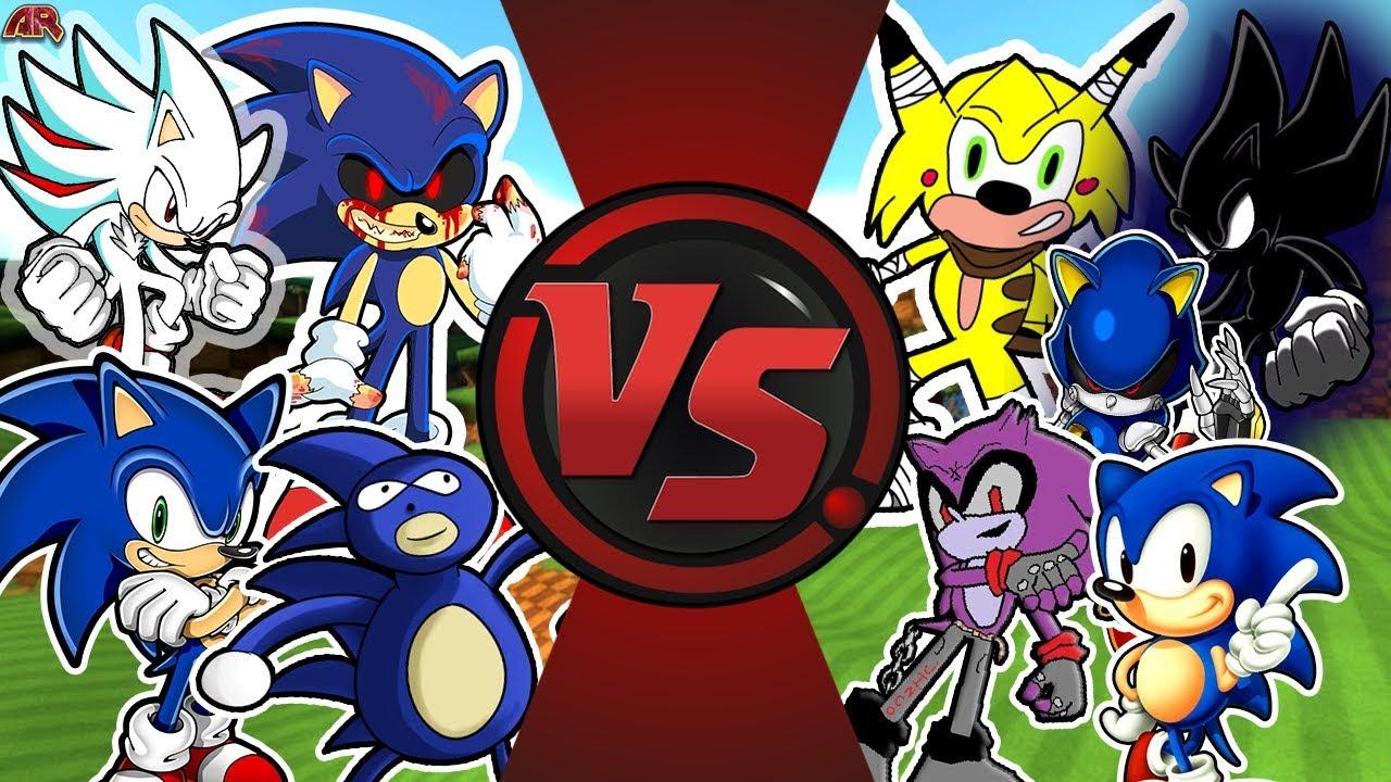 Sonic Free For All Dark Sonic Vs Sonic Exe Sanic Sonic Metal Sonic More Animationrewind Youtube