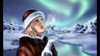 Северное сияние и красивая якутская песня Northern lights and beautiful Yakut song
