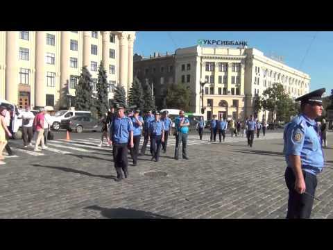 Харьков: новые столкновения на площади Свободы (1 июля 2014 г.)