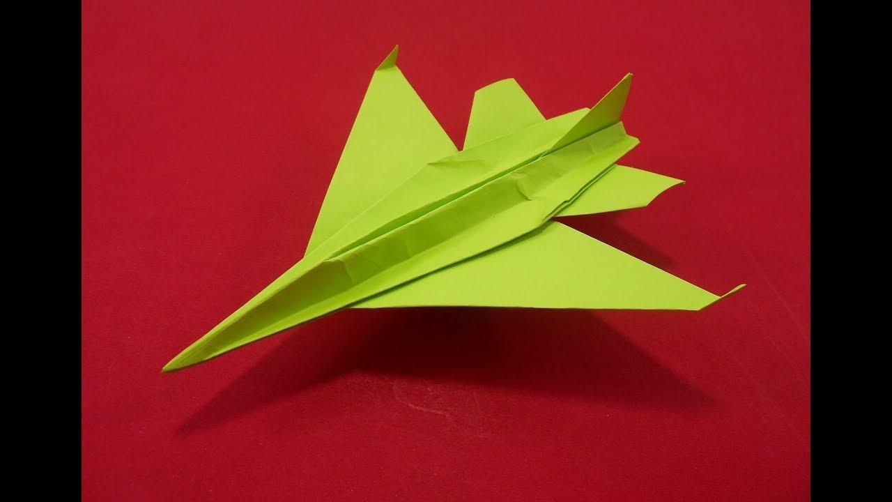 Cara Membuat Mainan Anak Dari Kertas Origami Pesawat Jet
