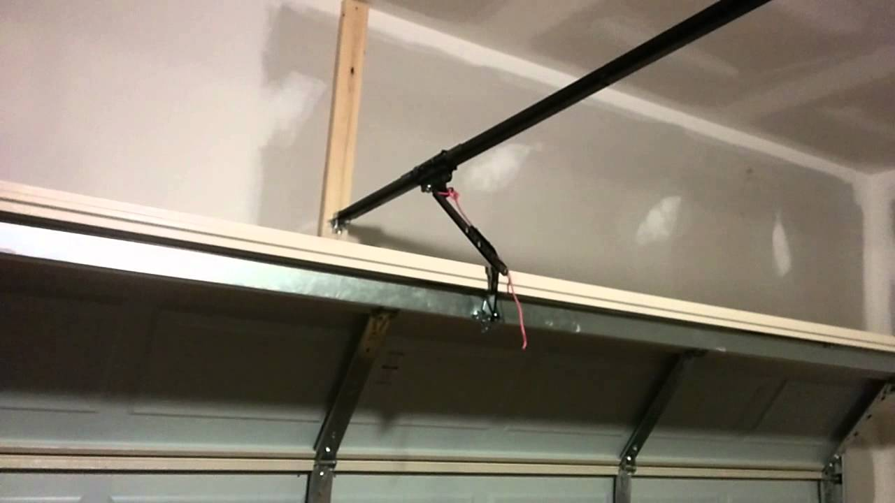 Captivating How NOT To Install A Garage Door Opener.