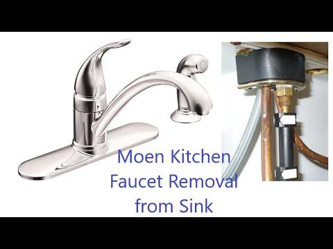 moen circa 2008 kitchen faucet removal