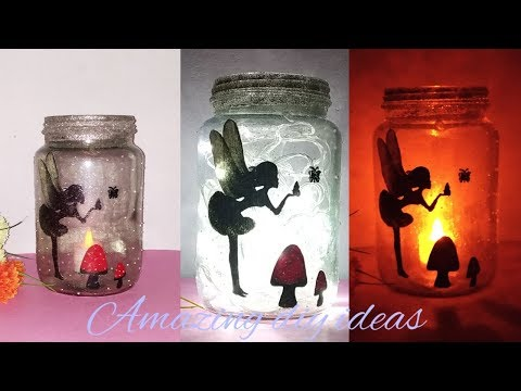 Fairy lantern tutorial / DIY : fairy glow jar/ Amazing diy ideas