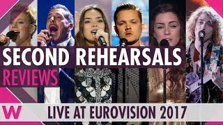Reaction: Eurovision 2017 Second Rehearsals Ukraine, Italy, Spain, Germany, UK, France