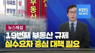 [뉴스해설] 19번째 부동산 규제…실수요자 중심 대책 …