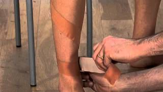 Effective sports taping for medial tibial stress syndrome (Shin Splints)