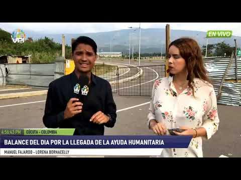 Colombia -   Balance del día por la llegada de la ayuda humanitaria   - VPItv