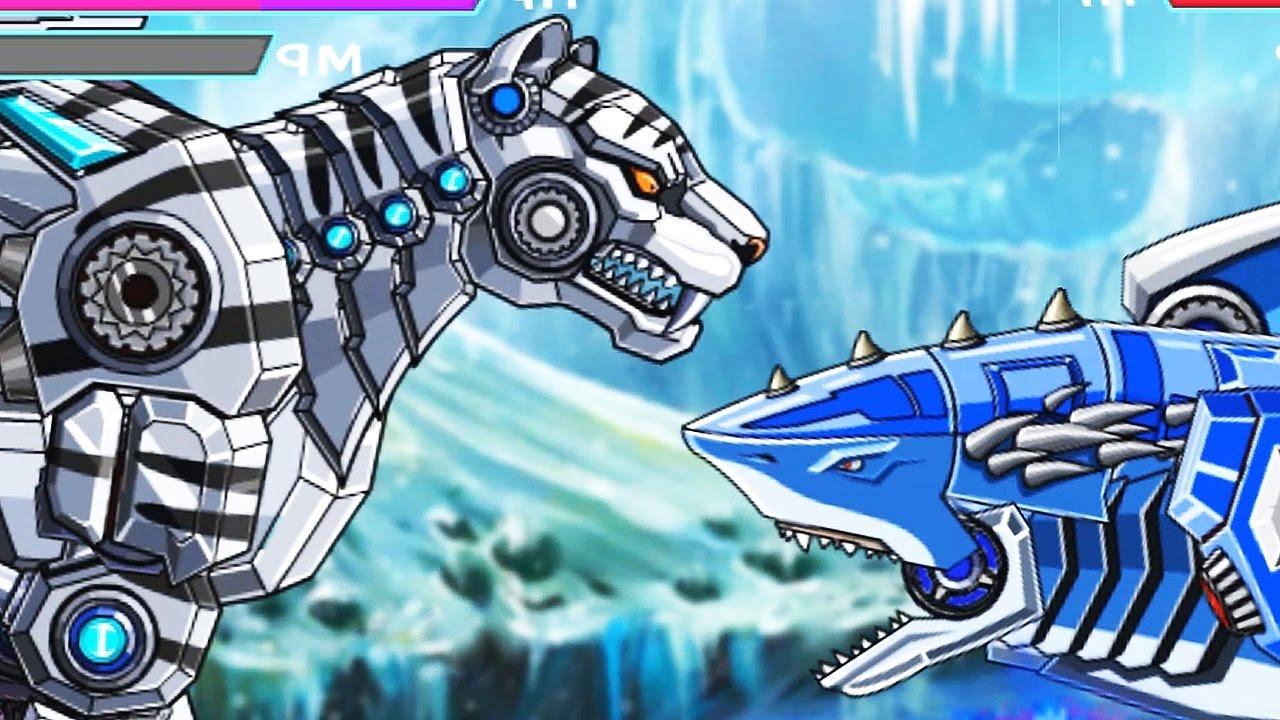 robot snow tiger vs robot vs dragon vs gryphon vs lion vs shark eftsei gaming youtube. Black Bedroom Furniture Sets. Home Design Ideas