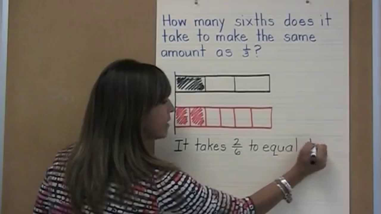 Comparing fractions with tape diagrams youtube comparing fractions with tape diagrams ccuart Images