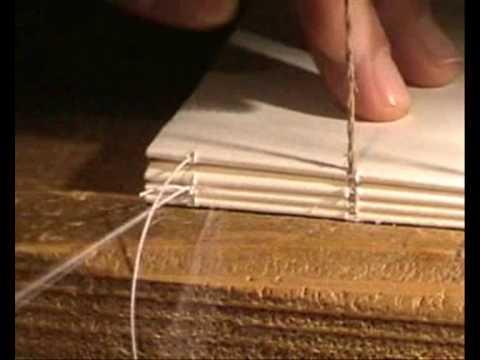 Bookbinding hand sewn lesson 1 step 2