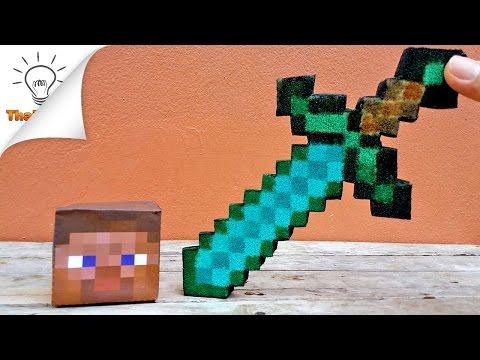 How to Make Squishy Minecraft Diamond Sword | Thaitrick