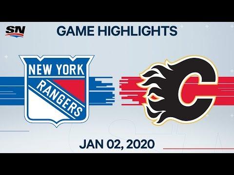 NHL Highlights   Rangers Vs. Flames - Jan. 02, 2020