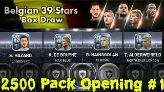 Belgium 39 Stars Boxdraw (x10) #1   2500 Pack Opening   PES 18 Android/iOS  