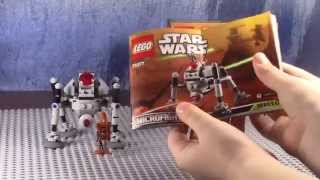 Lego star wars 75077 Самонаводящийся дроид паук (обзор на русском языке)