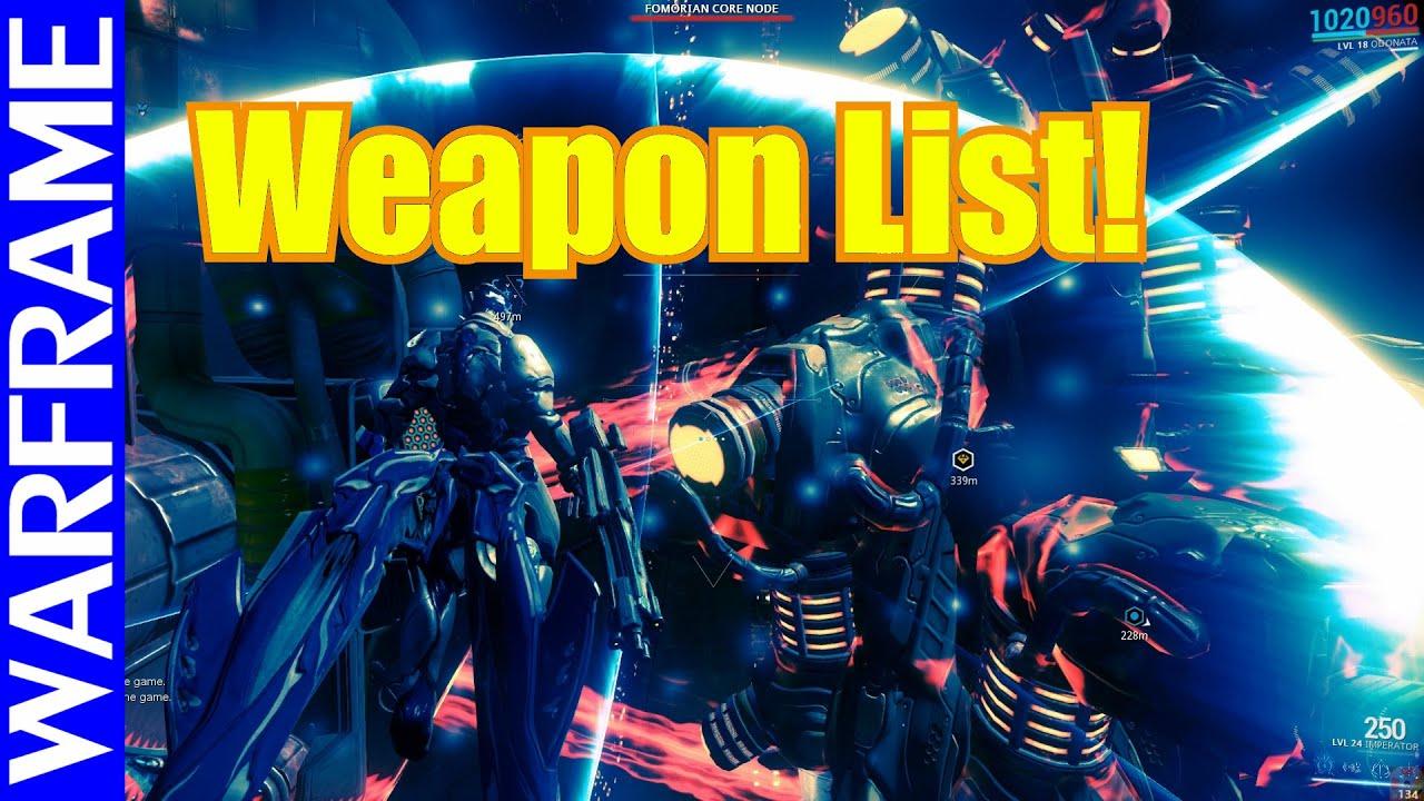 warframe weapon tier list