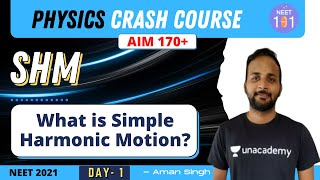 What is Simple Harṁonic Motion? | The Physics Crash Course | Day 1 | NEET Physics | NEET 2021