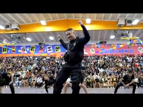 Cop Performs Farewell Dance to High School Students