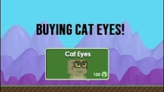 Buying Cat Eyes in Growtopia! WASTE OF GROWTOKENS!
