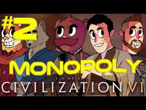 Civilization 6 Multiplayer Crew   MONOPOLY BOYS   Part 2 (2016 Civ 6 PC Gameplay)