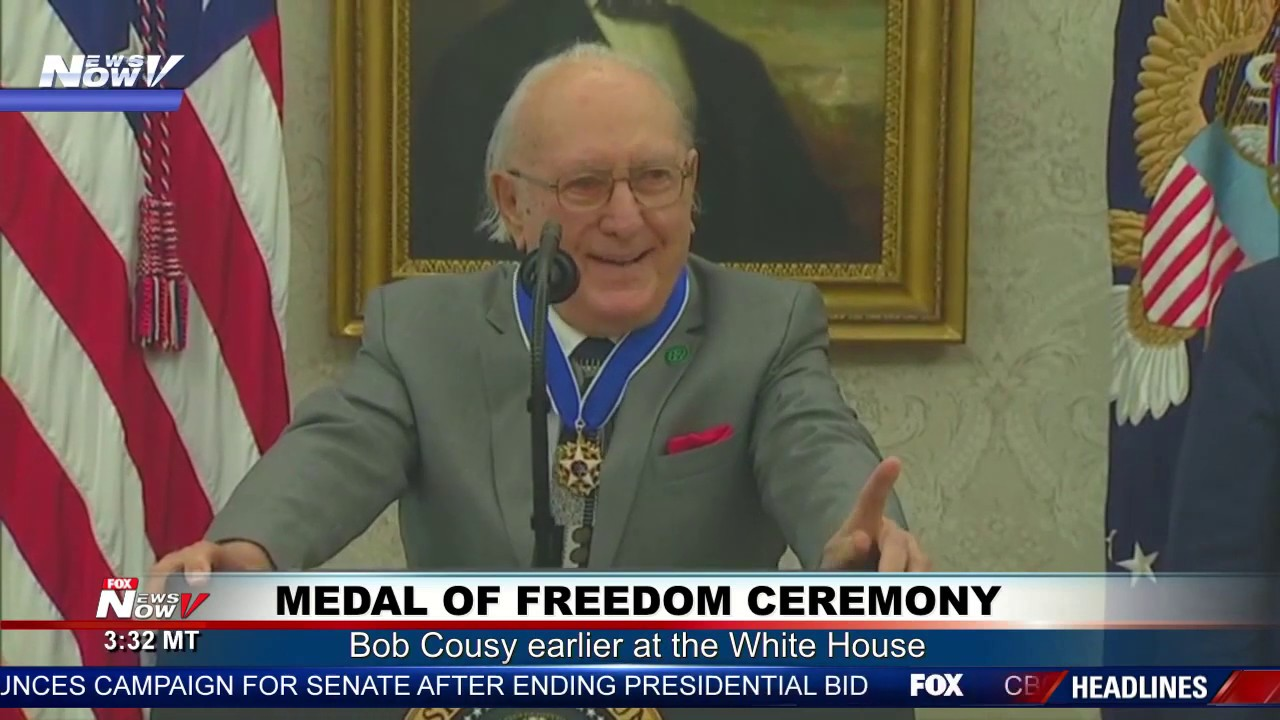 EMOTIONAL CEREMONY: Bob Cousy tears up thinking of wife during Medal of Freedom presentation