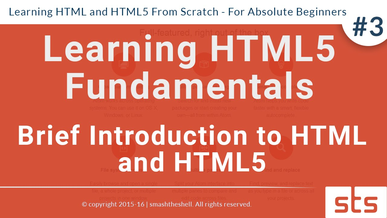 Brief Introduction to HTML and HTML5 | HTML Tutorial Series for ...