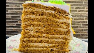 Торт КАРАМЕЛЬНАЯ ДЕВОЧКА Выпечка Сборка Покрытие БЕЛКОВО ЗАВАРНЫМ Кремом Красивый торт