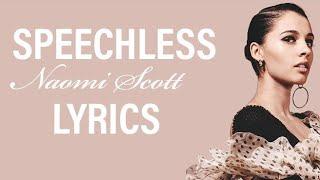 "Naomi Scott - Speechless (Lyrics) [from ""Aladdin"" 2019 Soundtrack]"