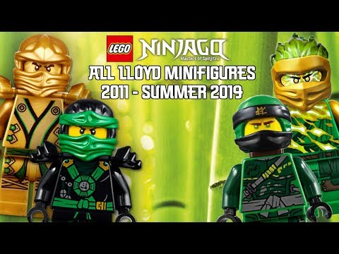 Ninjago Masters of Spinjitzu: All Lloyd Minifigures (2011 - Summer 2019)
